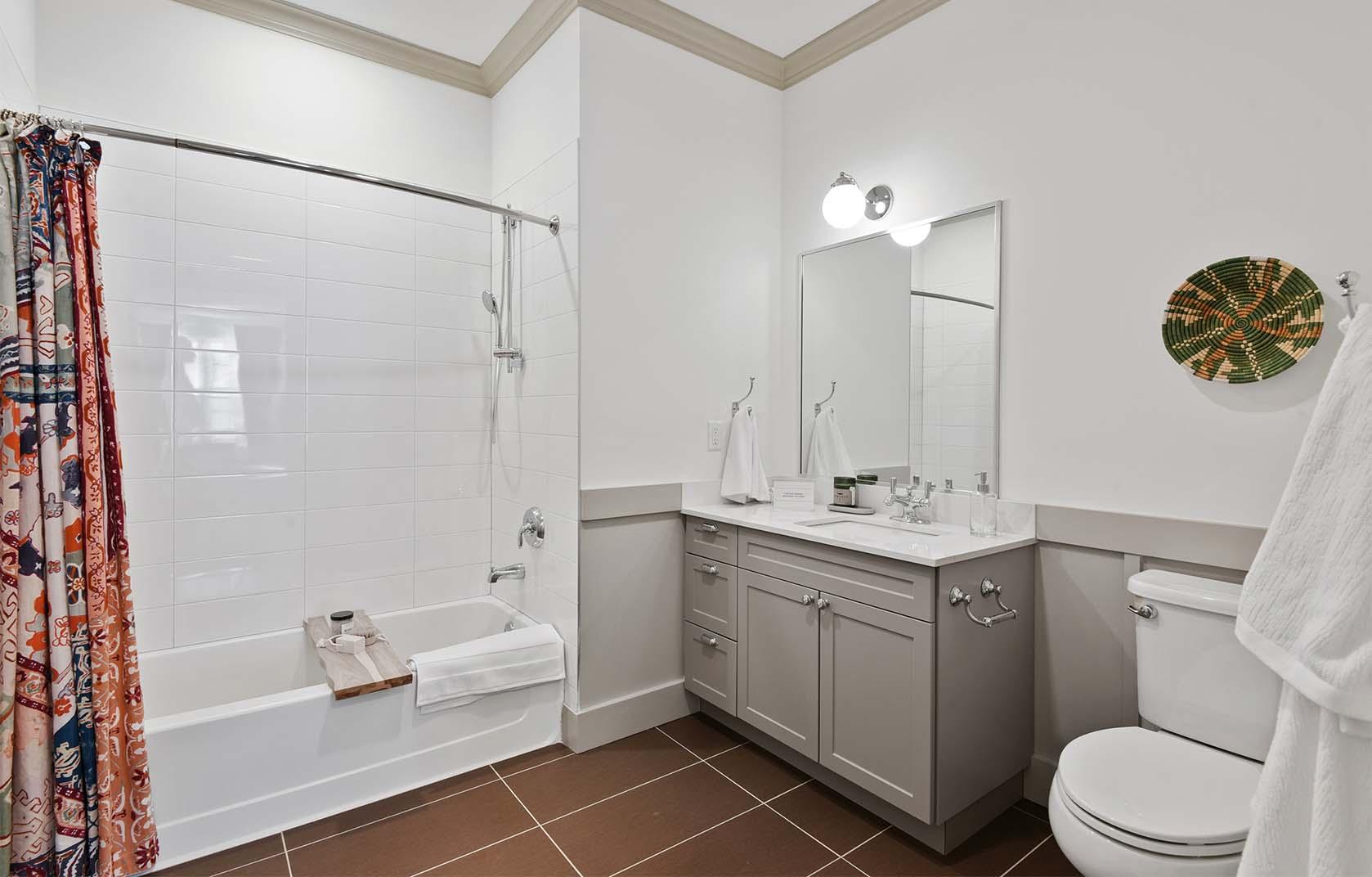 Luxury bathroom with elegant decor and beautiful fixtures.