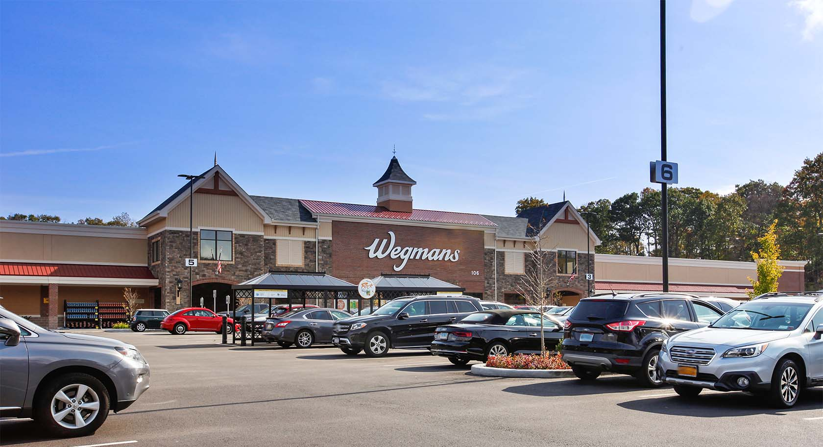 Wegman's flagship store is a two-minute walk down the road from Carraway luxury apartment homes.